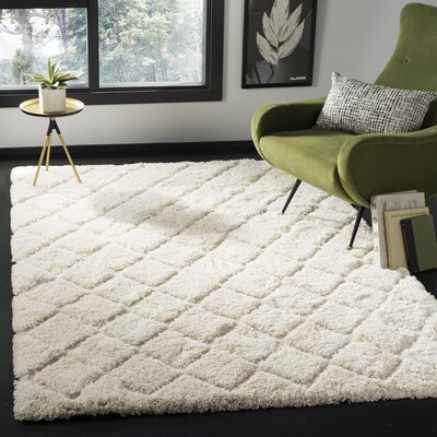 Felten Cream Area Rug Rug Size: Rectangle 51 x 76