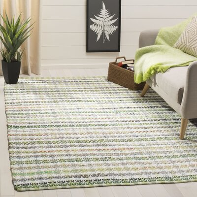 Ingleside Hand-Woven Green/Gray Area Rug Rug Size: Rectangle 5 x 8