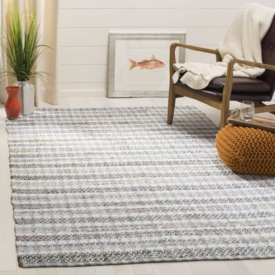 Ingleside Hand-Woven Gray/Beige Area Rug Rug Size: Rectangle 5 x 8