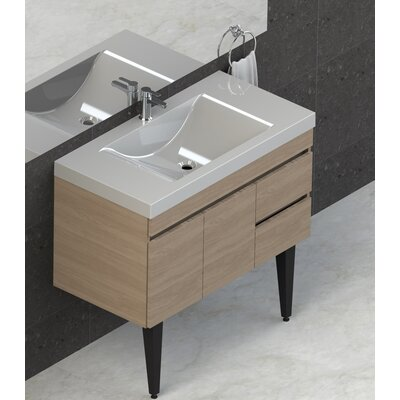 Byrns 37 Single Bathroom Vanity Set Base Finish: Latte