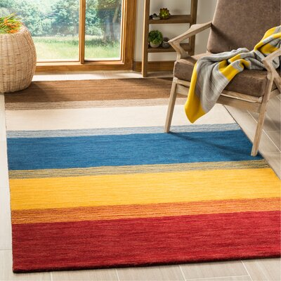 Bolick Red/Green Area Rug Rug Size: Rectangle 5 x 8