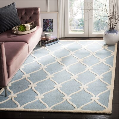 Martins H-Tufted Wool Blue Area Rug Rug Size: Rectangle 5 x 8