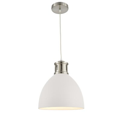 Pillar 1-Light Inverted Pendant Shade Color: White