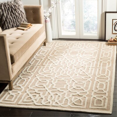 Martins Beige / Ivory Area Rug Rug Size: Rectangle 5 x 8