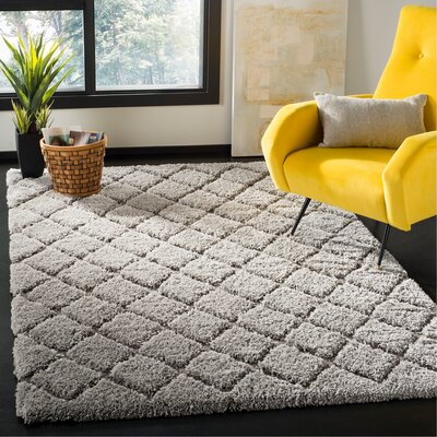Felten Light Gray Area Rug Rug Size: Rectangle 51 x 76