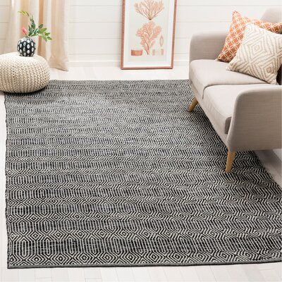 Shevchenko Place Hand-Woven Ivory / Dark Gray Area Rug Rug Size: Rectangle 6 x 9