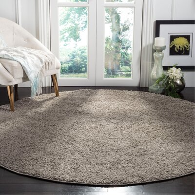 Helsel Gray Area Rug Rug Size: Round 67