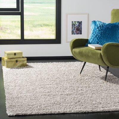Fornax Shag Gray Area Rug Rug Size: Rectangle 51 x 76