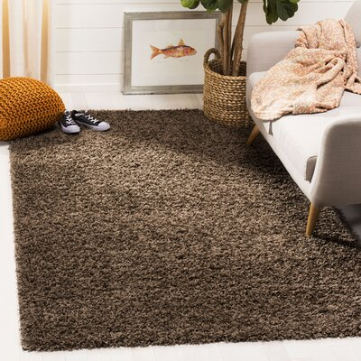 Fornax Shag Brown Area Rug Rug Size: Rectangle 51 x 76