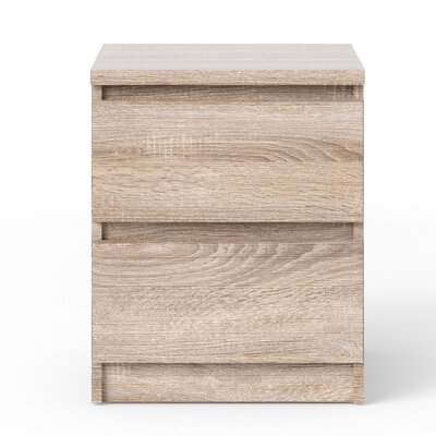 Kepner 2 Drawer Nightstand Color: Truffle