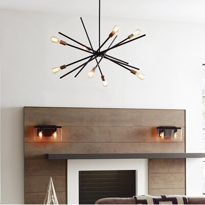 Cedillo 8-Light Sputnik Chandelier Finish: Antique Bronze