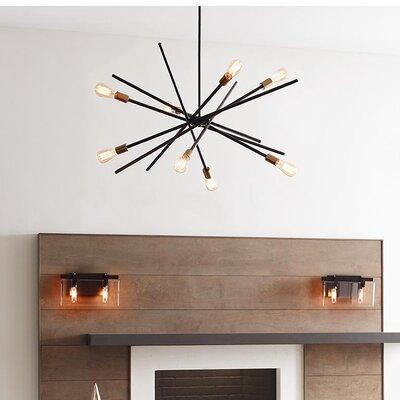 Cedillo 6-Light Sputnik Chandelier Finish: Antique Bronze