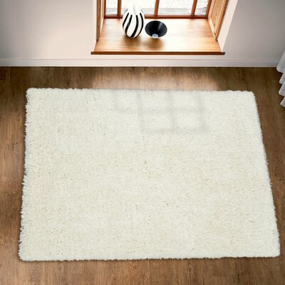 Costantino Fuzzy High Pile Ivory Area Rug Rug Size: Rectangle 53 x 7