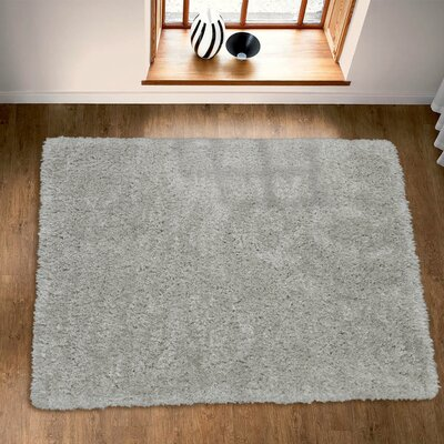 Costantino Fuzzy High Pile Gray Area Rug Rug Size: Rectangle 710 x 910