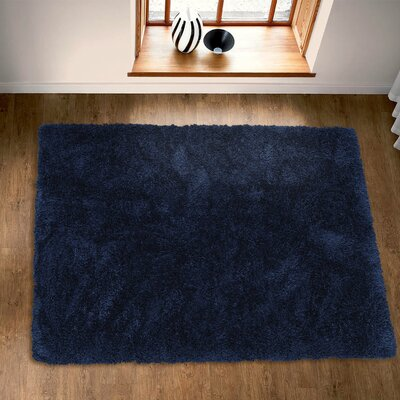 Costantino Fuzzy High Pile Navy Area Rug Rug Size: Rectangle 53 x 7