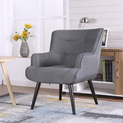 Pontius Accent Wingback Chair Upholstery: Black