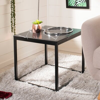 Crespin End Table Table Top Color : Black