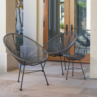 Repass Modern Papasan Chair Finish: Gray
