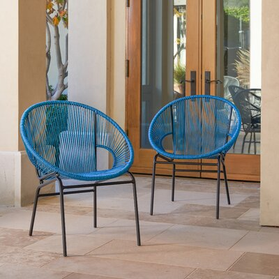 Repass Papasan Chair Color: Blue