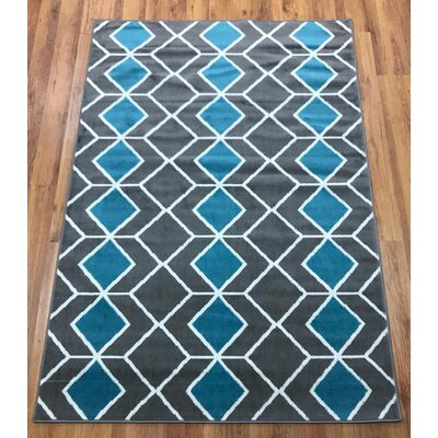 Abdo Kashan King Blue/Gray Area Rug Rug Size: Rectangle 5 x 7