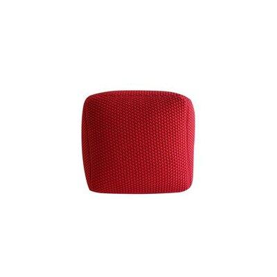 Ellett Pouf Upholstery: Red