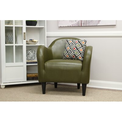 Potts Barrel Chair Upholstery: Forrest Green Leatherette