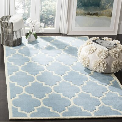 Wilkin Blue Moroccan Area Rug Rug Size: Rectangle 4 x 6
