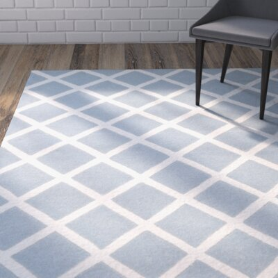 Wilkin Hand-Tufted Light Blue/Ivory Area Rug Rug Size: Rectangle 5 x 8