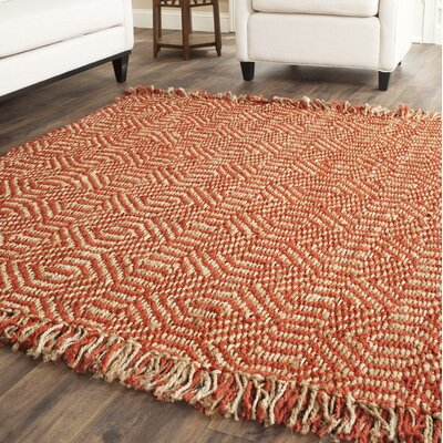Mcelwain Hand-woven Rust Area Rug Rug Size: Rectangle 3 x 5