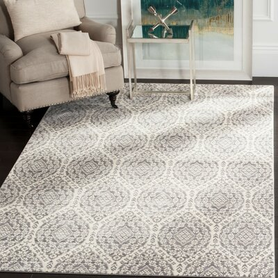 January Gray/Cream Area Rug Rug Size: Rectangle 5 x 8