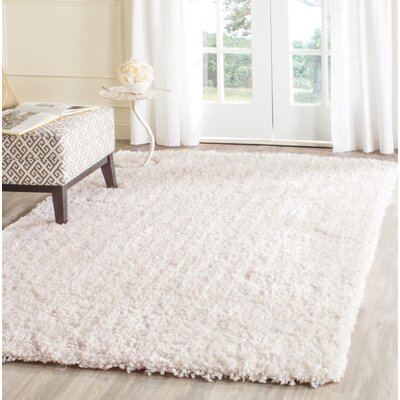 Bellar Shag Ivory Solid Rug Rug Size: Rectangle 3 x 5
