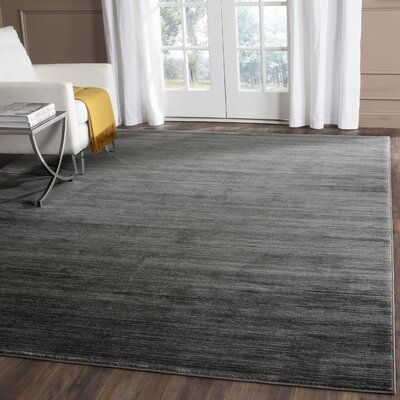Harloe Solid Gray Area Rug Rug Size: Rectangle 4 x 6