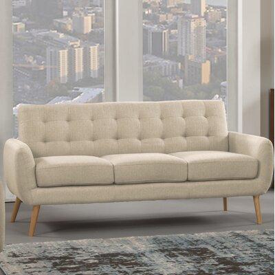 Dillion Sofa Upholstery: Ivory