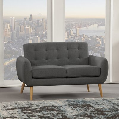 Dillion Loveseat Upholstery: Gray