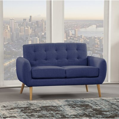 Dillion Loveseat Upholstery: Blue Depth
