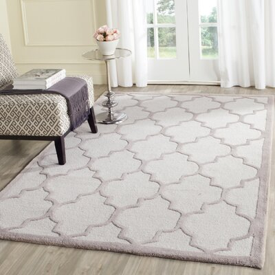 Charlenne Hand-Tufted Ivory/Beige Area Rug Rug Size: Rectangle 6 x 9