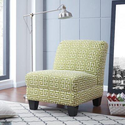 Havertown Slipper Chair Upholstery: Green