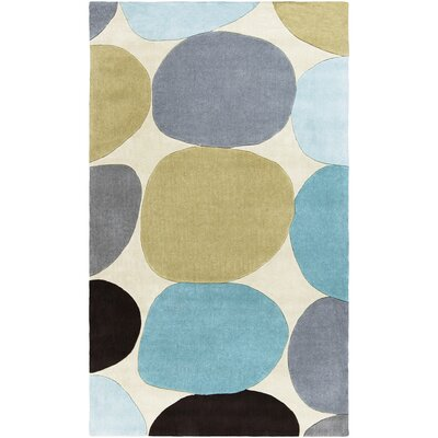 Conroy Ivory/Dark Brown Rug Rug Size: Rectangle 9 x 13