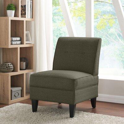 Klein Slipper Chair Upholstery: Basil Green