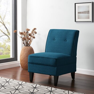Klein Slipper Chair Upholstery: Peacock Blue