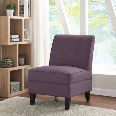 Klein Slipper Chair Upholstery: Purple