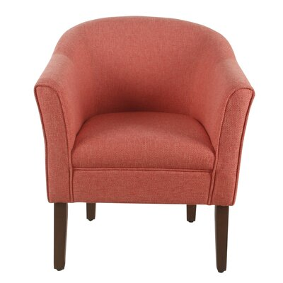 Causey Barrel Chair Upholstery: Coral