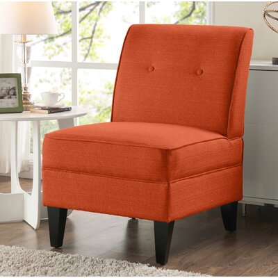 Klein Slipper Chair Upholstery: Orange