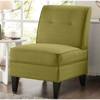 Klein Slipper Chair Upholstery: Green