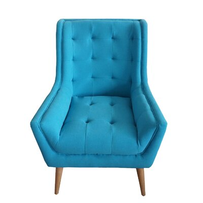 Fairlawn Tufted Wingback Chair Upholstery: Turquoise