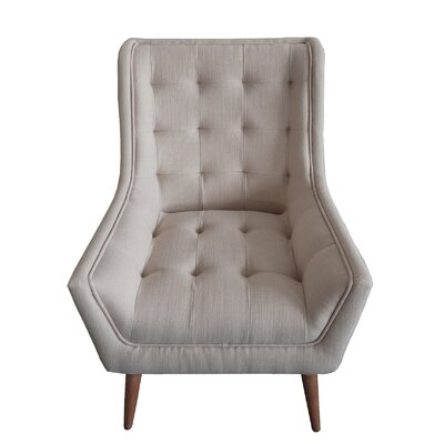 Fairlawn Tufted Wingback Chair Upholstery: Gray