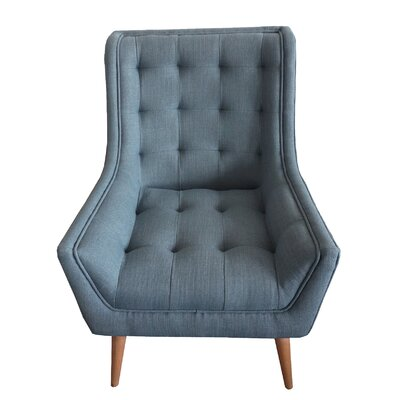 Fairlawn Tufted Wingback Chair Upholstery: Dark Gray