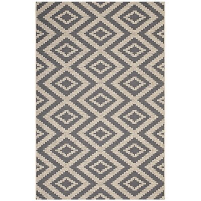 Eisele Geometric Diamond Gray/Beige Indoor/Outdoor Area Rug Rug Size: Rectangle 5 x 8