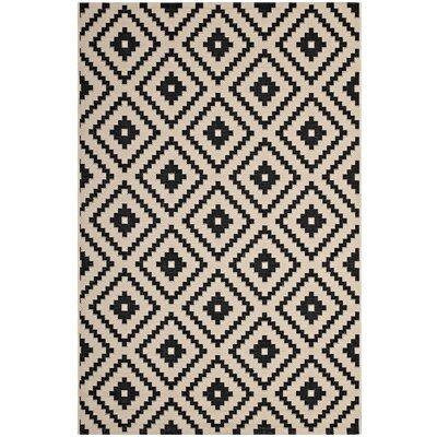 Eisen Geometric Trellis Black/Beige Indoor/Outdoor Area Rug Rug Size: Rectangle 5 x 8