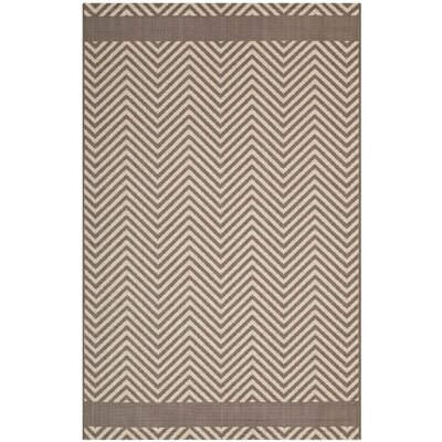 Electra Chevron Beige Indoor/Outdoor Area Rug Rug Size: Rectangle 5 x 8